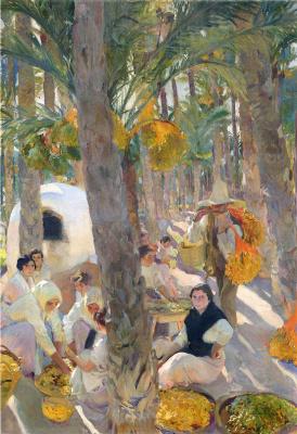 Joaquin Sorolla (Soroya). Palm grove in Elche