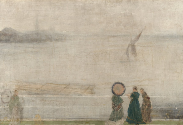 James Abbot McNeill Whistler. Battersea Bay, visible from the houses of Lindsay