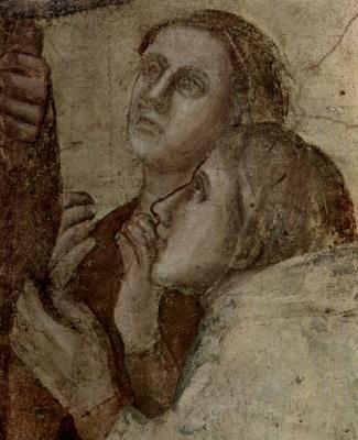 Джотто ди Бондоне. Пробуждение Друзиана Иоанном Евангелистом (фрагмент)