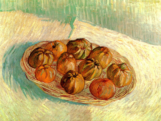Винсент Ван Гог. Натюрморт с корзинкой яблок