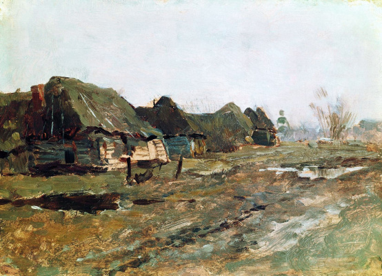 Isaac Levitan. Wait in the village