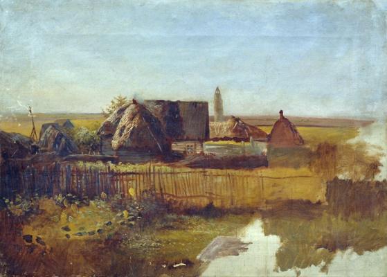 Ефим Ефимович Волков. Сельский пейзаж