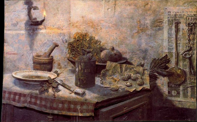Антонио Лопес Гарсия. Натюрморт с тарелкой