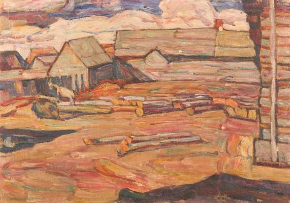 Абрам Аншелевич Маневич. Rural landscape