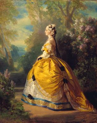 Франц Ксавер Винтерхальтер. Императрица Евгения в наряде XVIII века