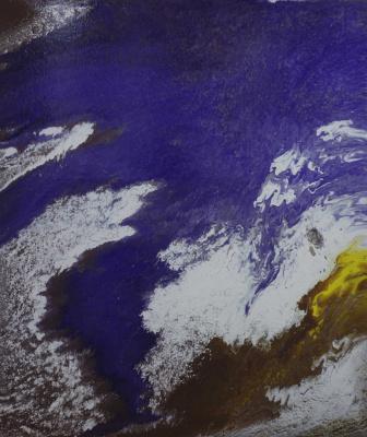 "Alla Struchayeva. The painting ""Comet in the Universe"""