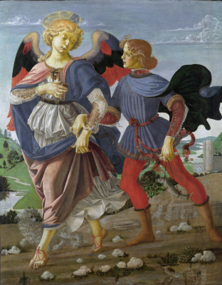 Andrea del Verrocchio. Tobias with the angel