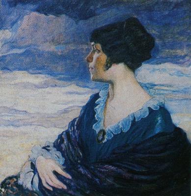 Ольга Людвиговна Делла-Вос-Кардовская. «Автопортрет» 1917