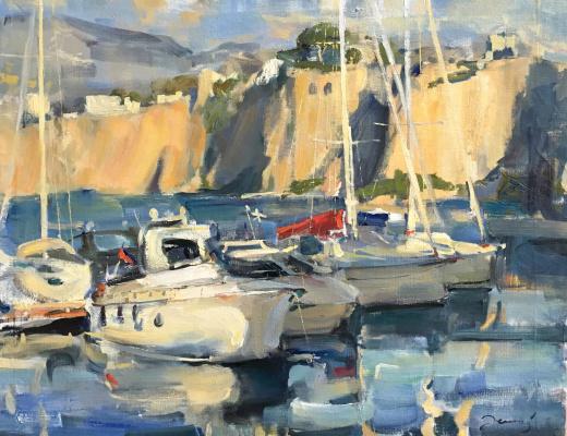 Irina Zelenina. Yachts in sorrento