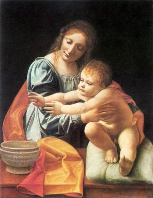 Джованни Антонио Болтраффио. Дева с младенцем