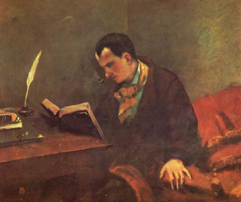 Gustave Courbet. Portrait Of Baudelaire