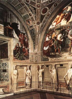 Рафаэль Санти. Станцы Ватикана. Вид на станцу д'Элиодоро