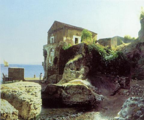 Лев Феликсович Лагорио. На острове Капри. Рыбацкий домик