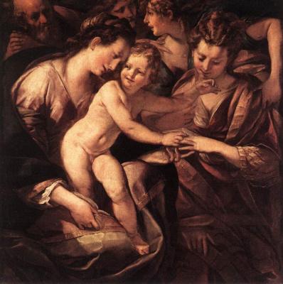Джулио Чезаре Прокаччини. Мистическое обручение святой Екатерины