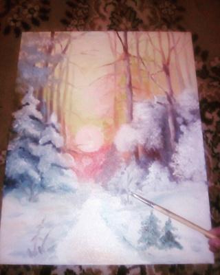Anastasia Alekseevna Trofimova. Winter evening.