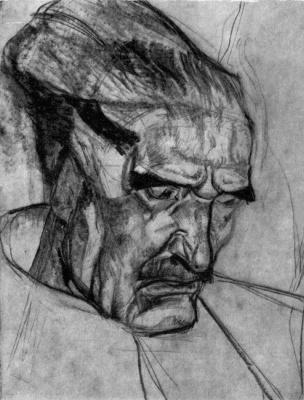 "Fedor Grigorievich Krichevsky. Sketch for the painting ""Dovbush"""