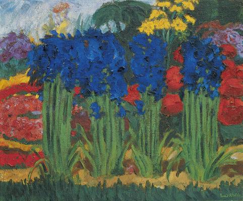 Emil Nolde. Blooming garden
