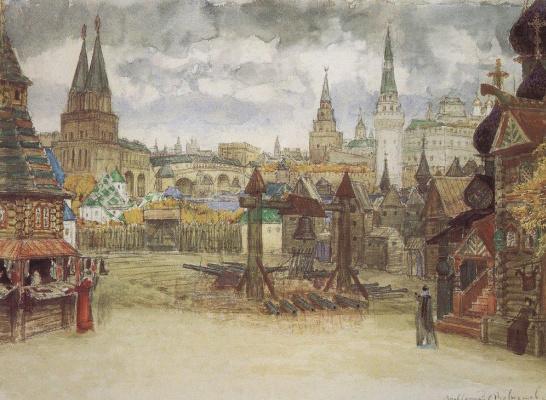 Apollinarius Mikhailovich Vasnetsov. Streletskaya Sloboda