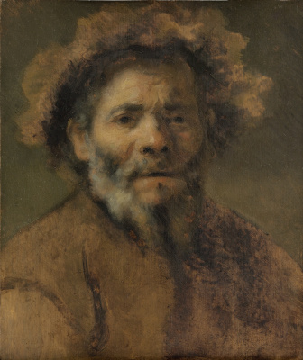 Karel Fabricius. Portrait of an old man. Sketch