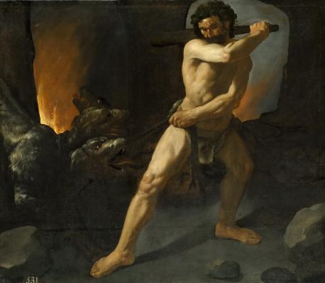 Francisco de Zurbaran. Hercules and Cerberus