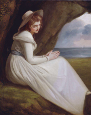 George Romney. Emma Hart, later Lady Hamilton as Ariadne