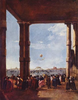 Francesco Guardi. Balloon ascent