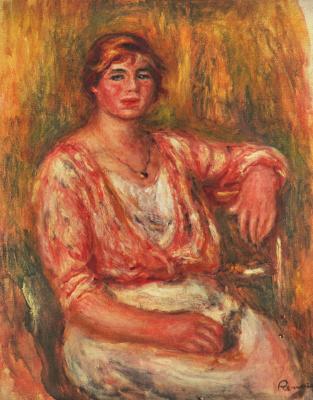Pierre Auguste Renoir. Milkmaid