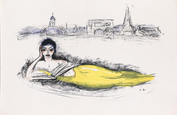 Kees Van Dongen. Parisian little mermaid