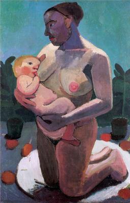 Паула Модерсохн-Беккер. Мать на коленях с ребенком