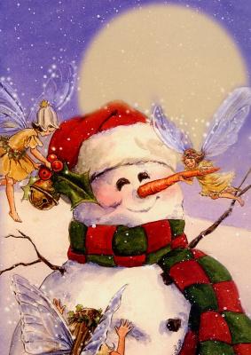 Лиза Папп. Рождественский снеговик