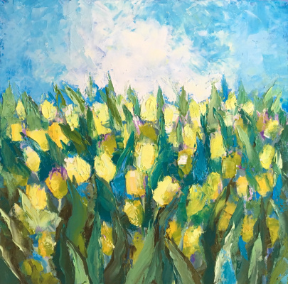 Maya Moskvicheva. Yellow tulips