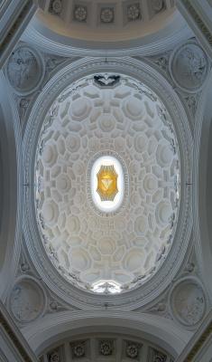 Francesco Borromini. The ceiling of the church of San Carlo alle Cuatro Fontane