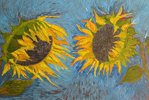 Eduard Поникаров. Sunflowers