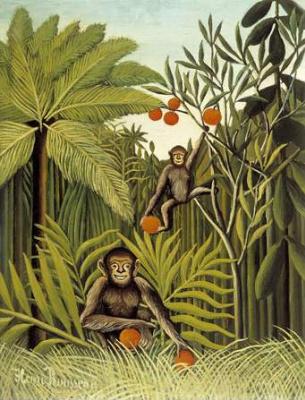 Henri Rousseau. The Monkeys in the Jungle