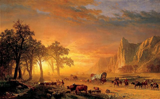 Переселенцы, пересекающие равнины