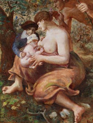 Борис Петрович Свешников. Мадонна с младенцем. 1950 е