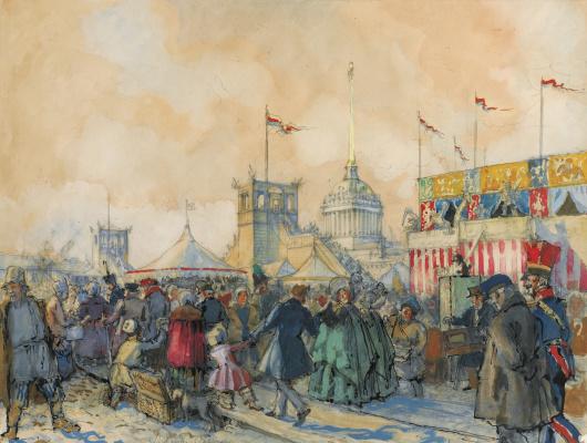 Alexander Nikolaevich Benoit. Carnival