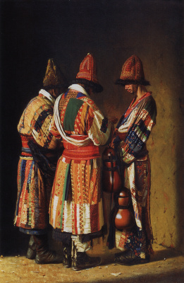 Vasily Vasilyevich Vereshchagin. Dervishes in festive outfits