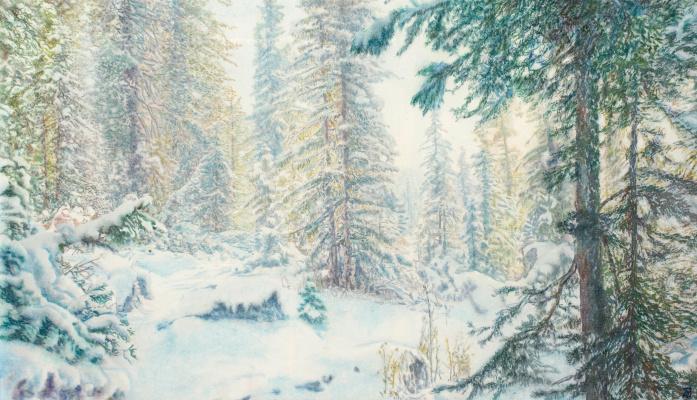 Виктор Михайлович Бородин. Snow glade