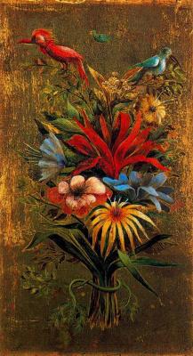 Ремедиос Варо. Flower bouquet with birds