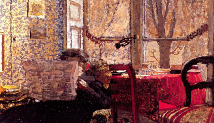 Jean Edouard Vuillard. Madame Vuillard reading the newspaper