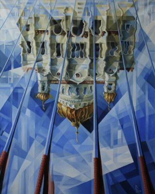 Vasily Krotkov. Walk on water. Post-kubofuturizm