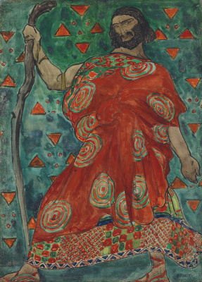 "Lev Samoilovich Bakst (Leon Bakst). Sketch for the costume of CREON to the play ""Antigone"""