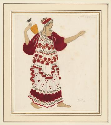 Lev Samoilovich Bakst (Leon Bakst). Sketch of Nymph Costume