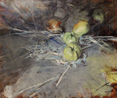 Giovanni Boldini. Still life with apples Calvil