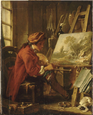 Francois Boucher. The artist in his Studio