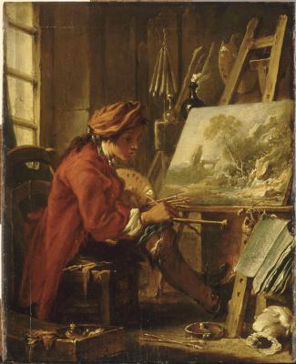 Francois Boucher. The artist in his Studio