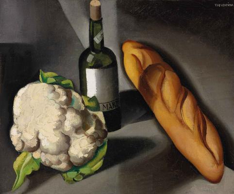 Tamara Lempicka. Still life with cauliflower