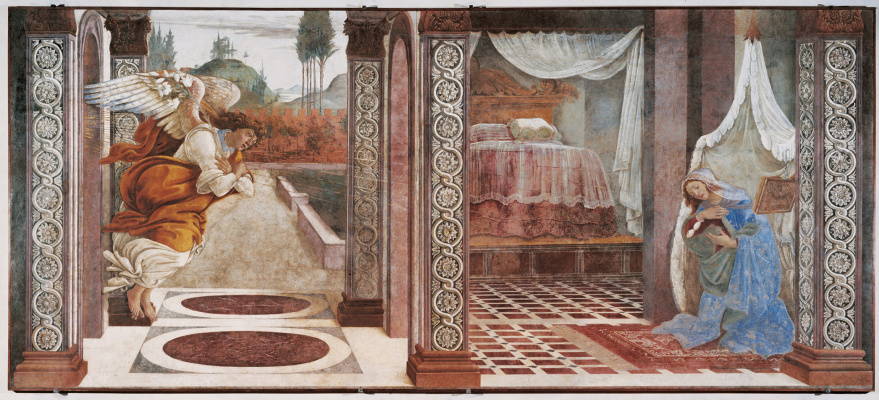 Sandro Botticelli. The Annunciation