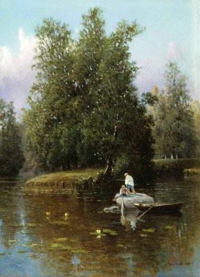 Александра Егоровна Маковская. В окрестностях Петербурга